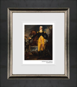 George Don't Drop It Washington - Black Framed - Mounted