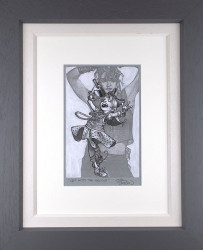 Get Into The Groove - Sketch - Framed