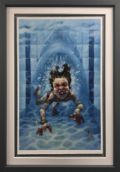 Get Out Of The Water (Jaws) - Framed