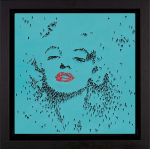 goddess - marilyn monroe - framed box canvas