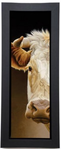 Goldie - A Glance  - Framed Box Canvas