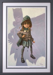 Gotham Girl - Artist Proof Grey Framed