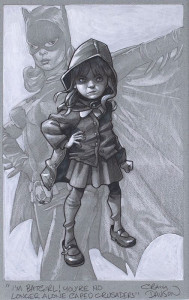 Gotham Girl - Sketch - Artist Proof - Mounted
