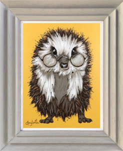 Harry Hedgehog - Original - Light Grey - Framed