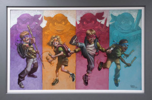Heroes In A Half Shell - Canvas - Artist Proof Grey - Framed