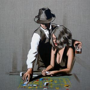 High Rollers - Study - Artist proof - Mounted