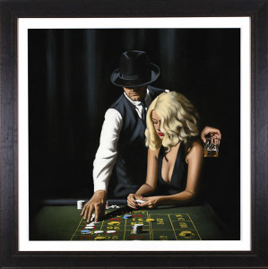 High Rollers - Artist proof - Framed Box Canvas