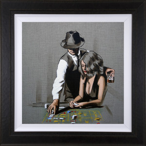 High Rollers - Study - Framed Box Canvas