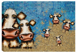 hit the hay! it's pasture bedtime - box canvas