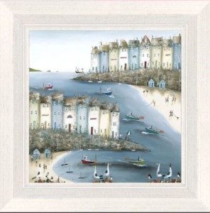 home by the sea - canvas  - framed