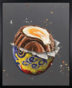 How Do You Eat Yours ? - Artist Proof Canvas - Black Framed - Framed Box Canvas