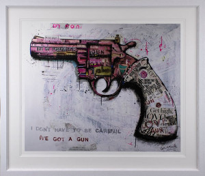 I Don't Have To Be Careful - Artist Proof - Framed