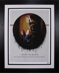 i meant to behave - paper  - framed