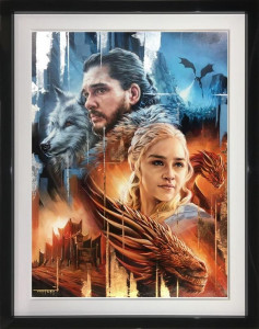 Ice And Fire - Original - Black - Framed