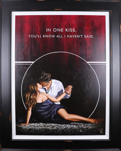 in one kiss - canvas  - framed
