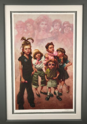 In The Pink (The Pink Ladies Grease) - Paper - Framed
