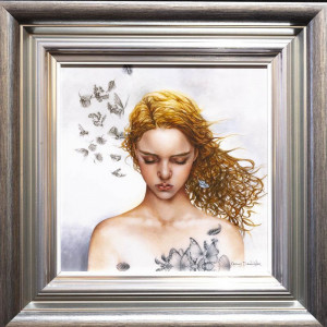 Becoming Nobody - Boutique Edition - Silver-Blue - Framed