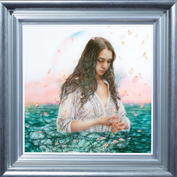 Internal Reflection - Silver-Blue Framed