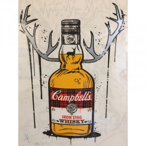 Iron Stag Whisky - Mounted