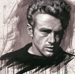 James Dean - Mounted