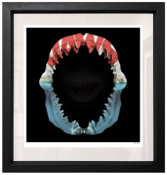 Jaws - Black Background - Small - Framed