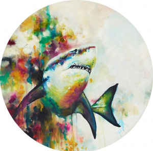 jaws (great white shark) (large)  - mounted
