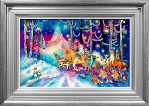 Journey To The Ice Palace - Silver - Framed