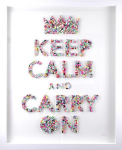 Keep Calm And Carry On - Original - White - Framed