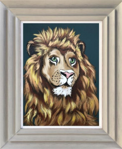 King Of The Jungle - Original - Light Grey - Framed