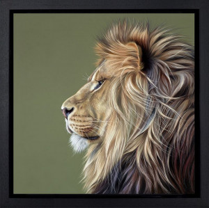 King Of The Savannah  - Framed