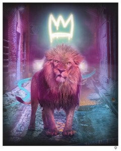 King Of The Urban Jungle - Yellow-Gold - Original  - Framed
