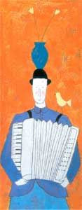 Lady & Accordian - Print only