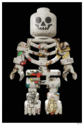 Lego Skeleton (Black Background) - Large