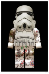 Lego Storm Trooper (Black Background) - Small