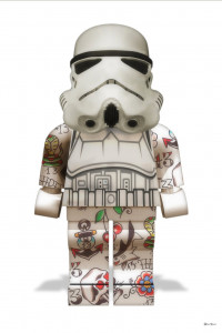 Lego Storm Trooper (White Background) - Small - Mounted