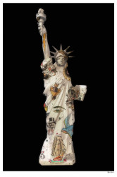 Liberty (Black Background) - Small - Mounted