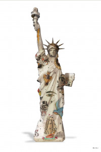 liberty (white background) - small  - framed