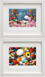 Life Is Sweet & Pick Me - Set - Framed