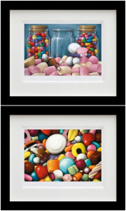 Life Is Sweet & Pick Me - Set - Black - Framed