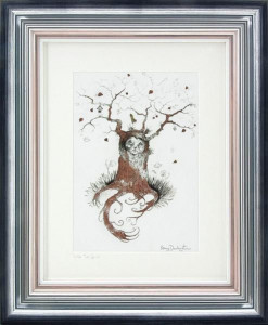 little tree spirit sketch - framed
