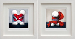 Looking After My Heart & Wrapped In Love - Set - White - Framed