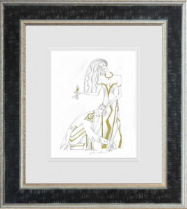 Lord And Lady I - Line Study - Black - Framed