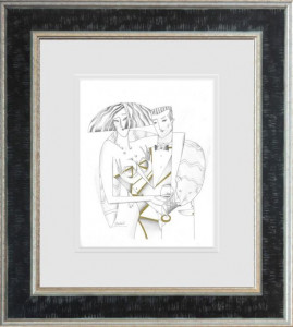 Lord And Lady II - Line Study  - Framed