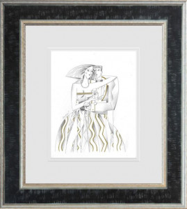 Lord And Lady III - Line Study  - Framed