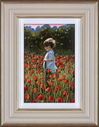 Lost Amongst The Poppies - Framed