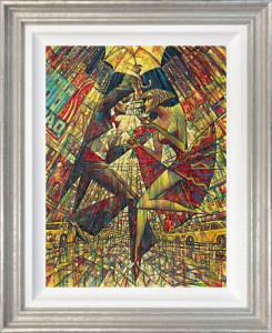 Love In Times Square - Silver - Framed