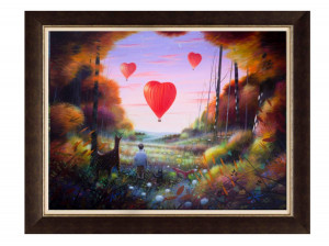 Love Is In The Air - Brown - Framed