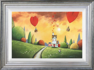 Love Is In The Air - Silver - Framed
