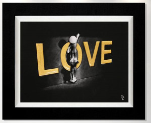 love lifts us up - 3d high gloss  - framed