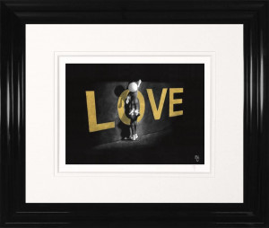 love lifts us up - paper  - framed